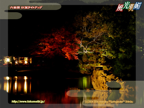 The autumn tint of Rikugien improves in the light